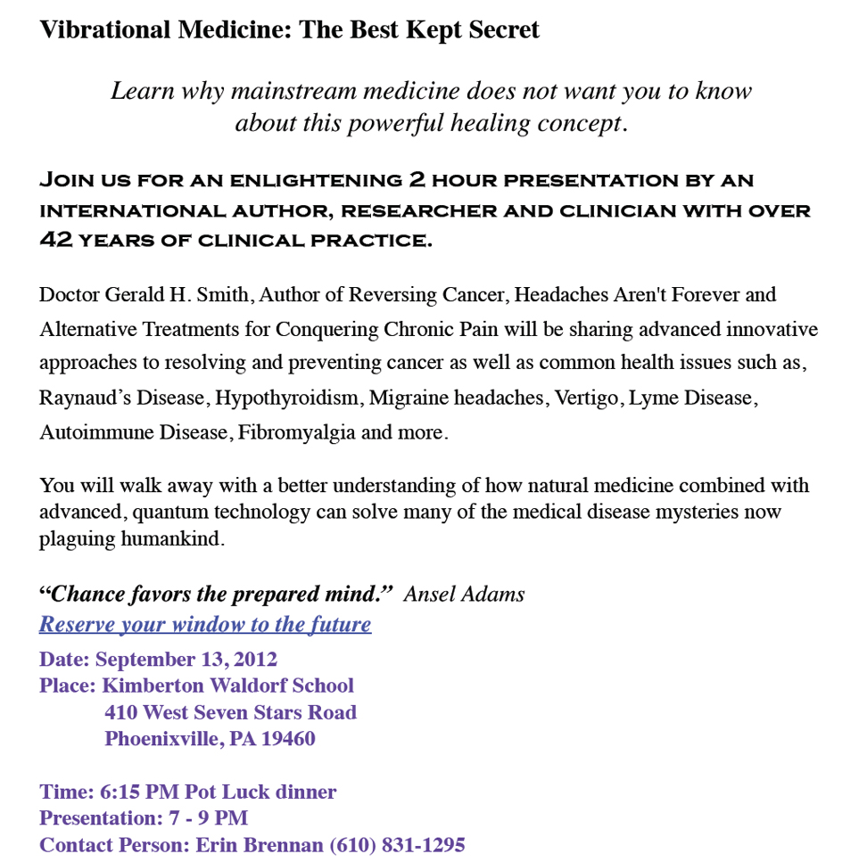 vibrational medicine presentation